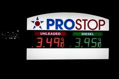 Prezzi di combustibile di Prostop, maggio 2012 Fotografia Stock
