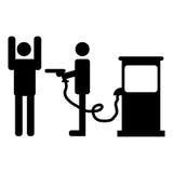 Prezzi di gas royalty illustrazione gratis