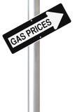 Prezzi di gas aumentanti Fotografia Stock