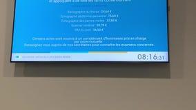 Prezzi di radiologia in ospedale su esposizione video d archivio