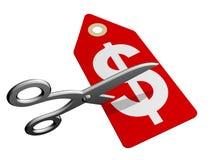 Prezzi di taglio Immagini Stock