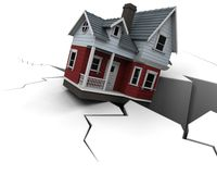 Prezzi diminuenti della proprietà illustrazione vettoriale