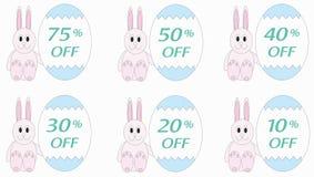 Prezzi riduttori sulle uova di Pasqua Immagini Stock Libere da Diritti