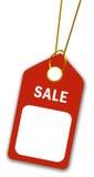 Prezzo da pagare in bianco Fotografia Stock