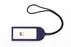 Prezzo da pagare blu Fotografia Stock Libera da Diritti