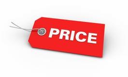 Prezzo da pagare rosso Immagine Stock Libera da Diritti