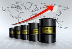 Prezzo del petrolio globale Fotografie Stock Libere da Diritti