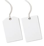 Prezzo della carta in bianco o insieme dell'etichetta del regalo isolato Fotografia Stock Libera da Diritti