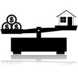Prezzo della casa illustrazione vettoriale