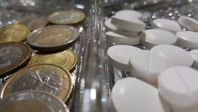 Prezzo delle pillole Immagini Stock Libere da Diritti