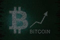 Prezzo di Bitcoin Fotografie Stock