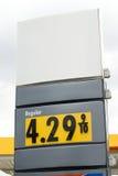 Prezzo di gas Fotografia Stock Libera da Diritti
