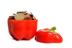 Prezzo di peperone dolce Fotografia Stock