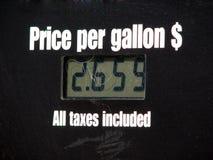 Prezzo per gallone Fotografia Stock