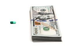 Prezzo per il farmaco Fotografia Stock Libera da Diritti