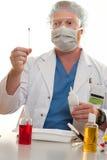 Prüfung auf Substanzen Stockfoto