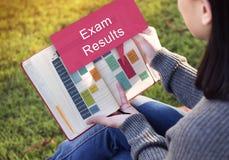 Prüfung resultiert Zeitplan-Anzeigen-Berichts-Konzept Lizenzfreies Stockfoto