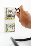 Prüfung von Finanzgesundheit Stockfoto
