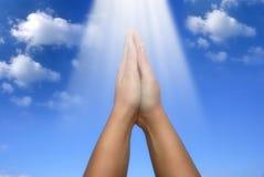 Prière Photo libre de droits
