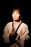 Prière asiatique de femme. image libre de droits