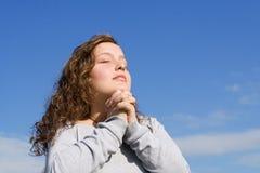 Prière d'adolescent Photographie stock libre de droits