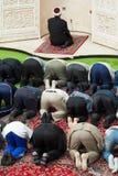 Prière d'après-midi dans la mosquée Images stock