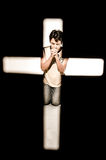 Prière d'homme. photos stock