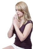 Prière de femme Image stock