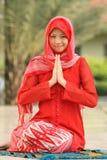 Prière de femme de l'Islam Images stock