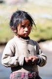 Prière de fille du Thibet dans le temple de jokhang Photos stock