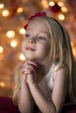Prière de jeune fille Image libre de droits