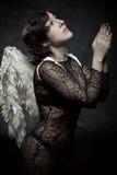 Prière de l'ange Photographie stock libre de droits