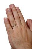 Prière de main Photo libre de droits