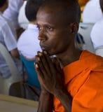 prière de moine Photographie stock