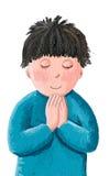 Prière de petit garçon Images libres de droits