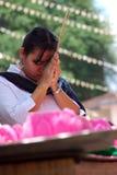 Prière de Wesak image libre de droits