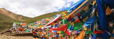 Prière, drapeaux de prière Image libre de droits