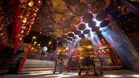 Prière en Misty Temple Photo stock