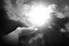 Prière humaine de mains image stock