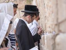 Prière juive d'hommes Images stock