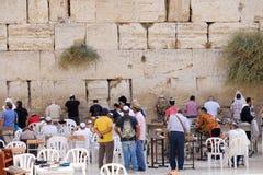 Prière juive d'hommes Photographie stock
