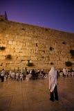Prière occidentale de mur Image libre de droits