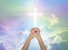 Prière pour l'aide divine Images stock