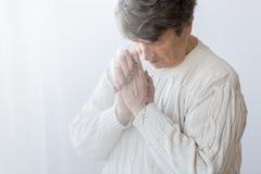 Prière supérieure religieuse de personne Images libres de droits
