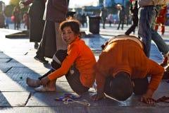 Prière tibétaine Photographie stock libre de droits