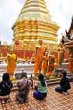 Prières bouddhistes Image stock