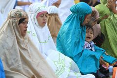 Prières d'Eid al-Adha Image libre de droits