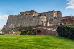 Free Priamar Fortress In Savona, Italy Stock Photography - 108442502