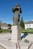 Pribina staty i Nitra Arkivbilder