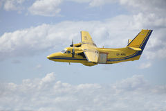 Pribram, Czech Republic -8th August 2011.  Yellow Aircraft L410 for parachuting. Stock Photography